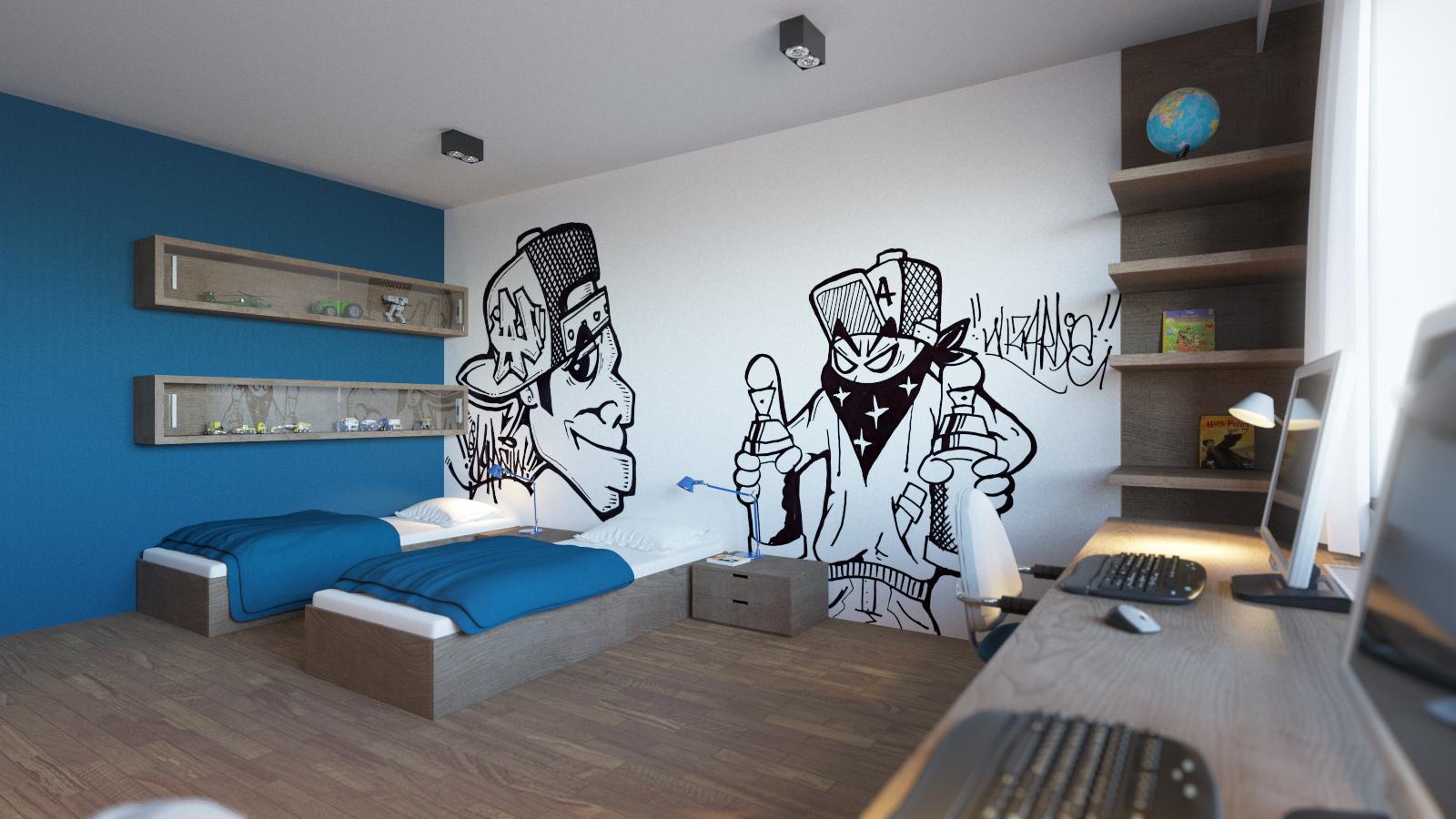 3d vizualizácia detskej izby