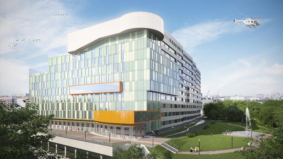 3d vizualizácia nemocnice