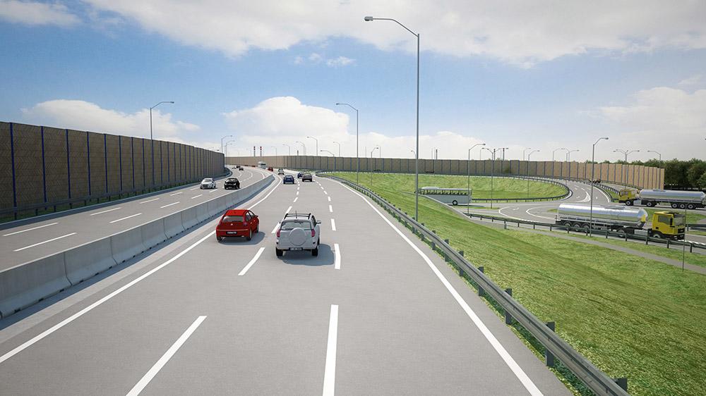vizualizácia rýchlostnej cesty R7