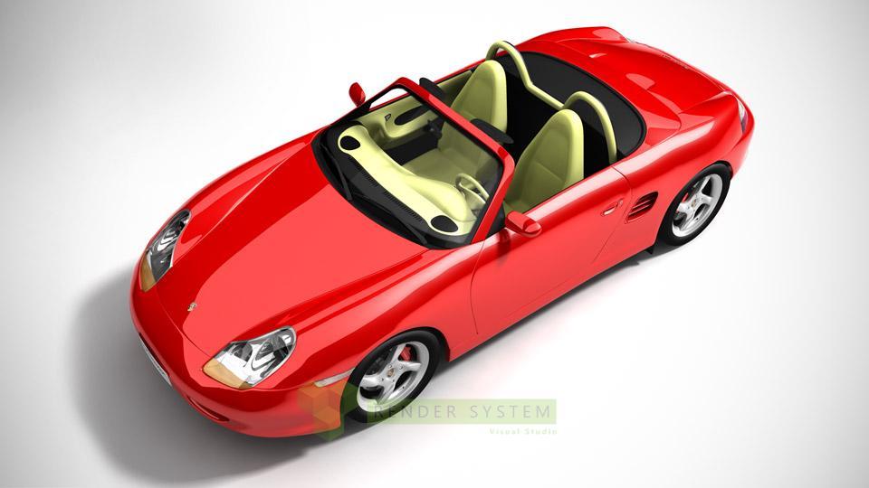 produktová vizualizácia Porsche Boxter S