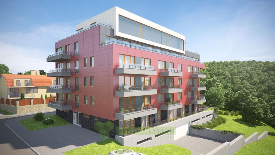 Vizualizácia bytového domu Viladom Karldorf