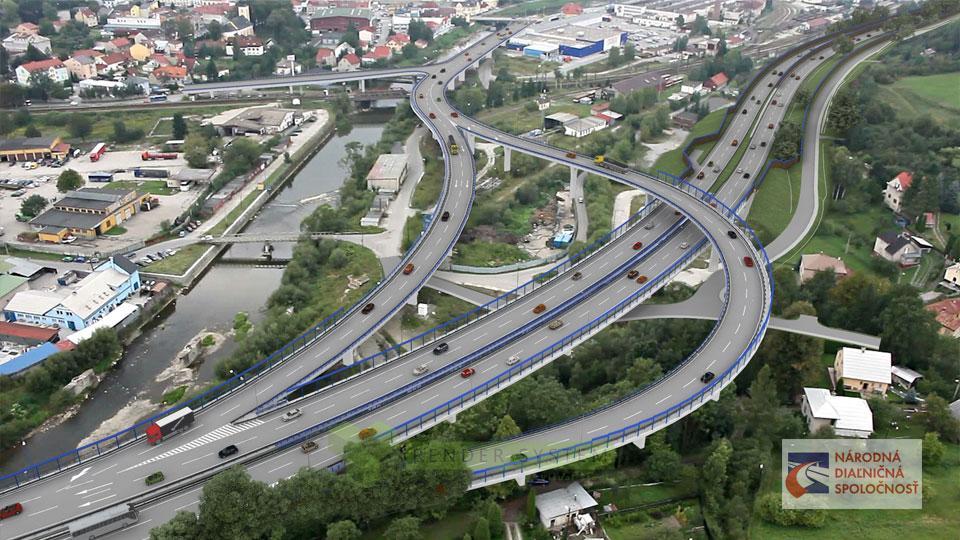 Vizualizácia diaľnice D3 pre spoločnosť Amberg a Národnú diaľničnú spoločnosť.