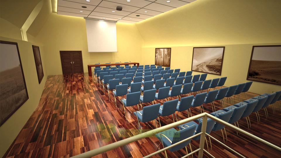 Vizualizácia interiéru Ožďanského kaštieľa.