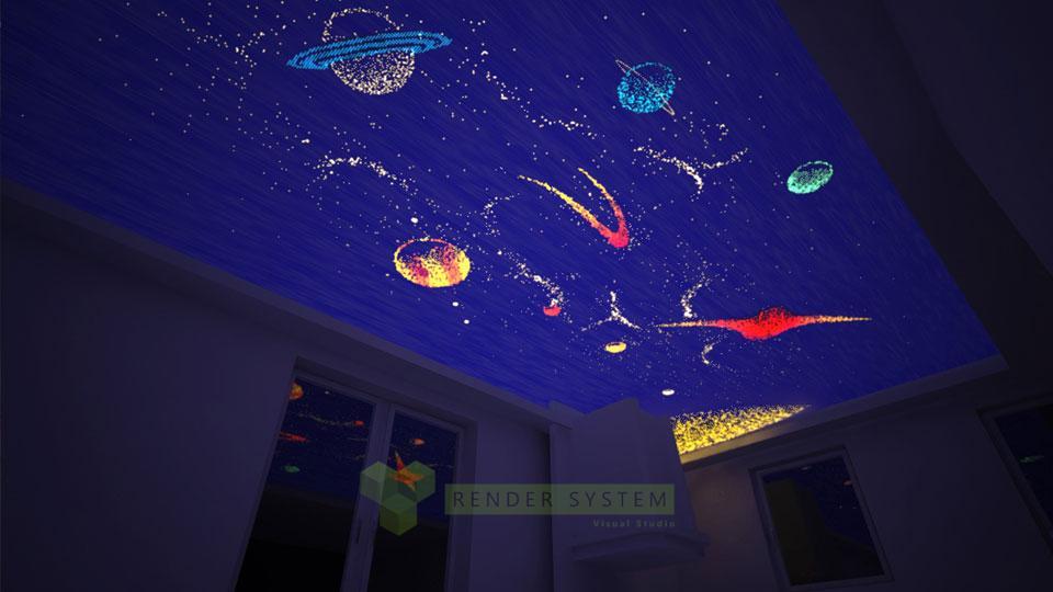 Vizualizácia dekoračného osvetlenia pre firmu LEDeco.